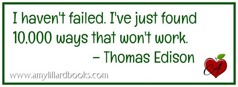 edison quote Amy Lillard romance author http://www.amylillardbooks.com #AmyLillardBooks